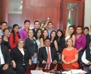 Alumnos de Derecho de Sonora se reunieron con consejeros y jueces, como parte de su capacitación en juicios orales.