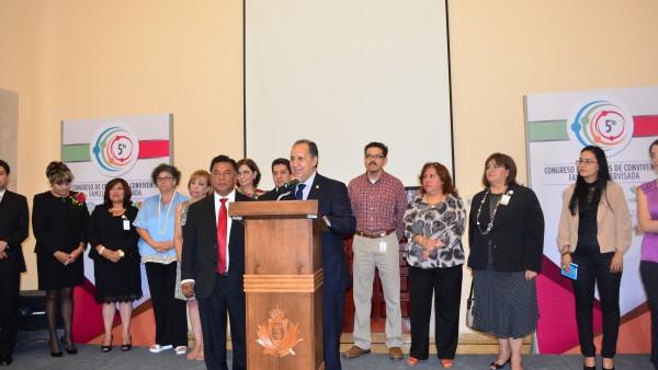 El Consejero del Distrito Federal, Héctor Manuel Casilla,m clausuró los trabajos del Quinto Congreso Nacional de Centros de Convivencia.