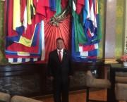 El Presidente del Poder Judicial de Durango, Apolonio Betancourt Ruíz, en Palacio Nacional para recibir al Presidente de Finlandia.