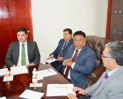 Funcionarios de la OEA fueron recibidos por el Presidente del Poder Judicial, Apolonio Betancourt.