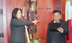 La Lic.  Ana Bertha Adame, rindió protesta como nueva Diectora Jurídica de la Presidencia del Tribunal Superior de Justicia.