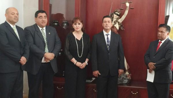 Los cuatro integrantes del Comité de certificación de Facilitadores Judiciales.