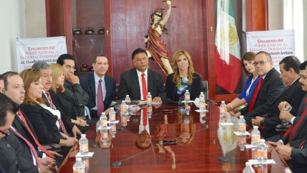Poder Judicial de Durango refrenda colaboración con Sonora