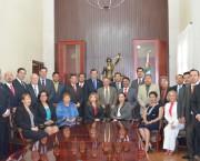 Los magistrados y consejeros del Poder Judicial, se reunieron con el Ministro Mariano Azuela Güitrón.