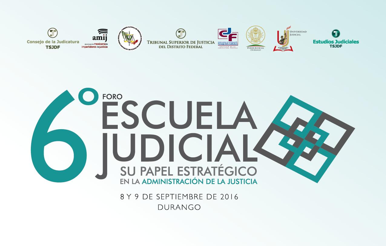 Programa 6º Foro de Escuelas judiciales
