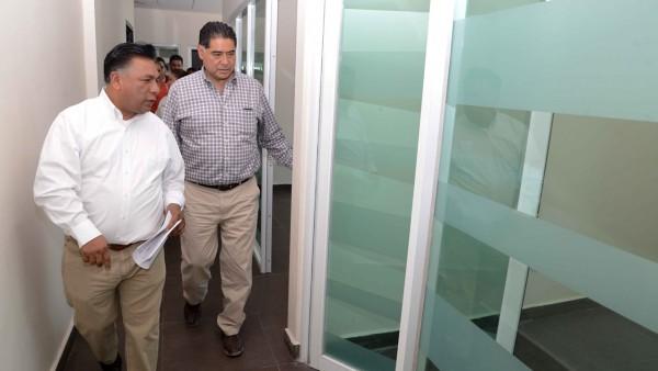 recorrido por las instalaciones de lo que será el Centro de Justicia en el municipio de Cuencamé.